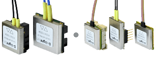 Transceiver der Baureihen S-Light (links) und D-Light (rechts)